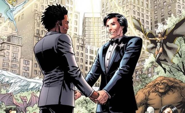 Celebrato il primo matrimonio gay dei fumetti
