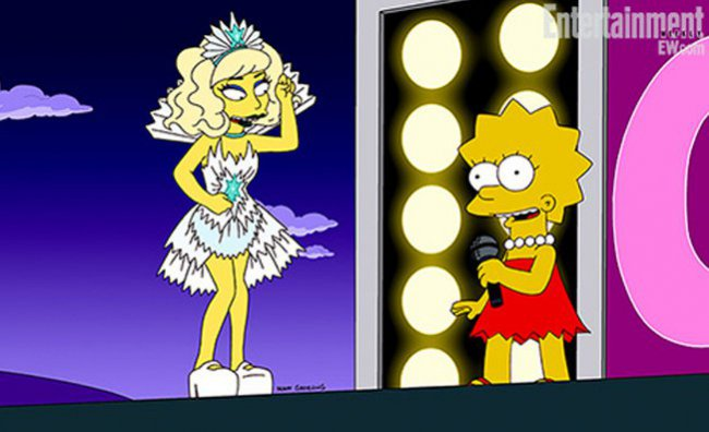 Lady Gaga incontra Lisa Simpson
