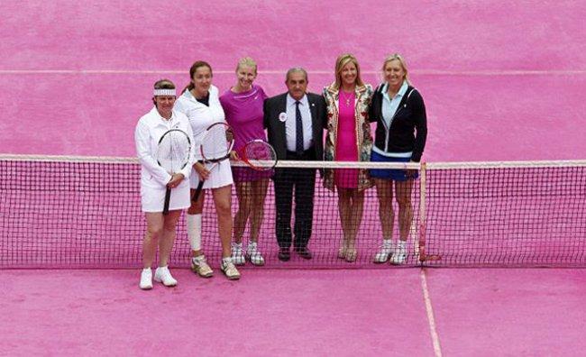 Il Roland Garros si tinge di rosa
