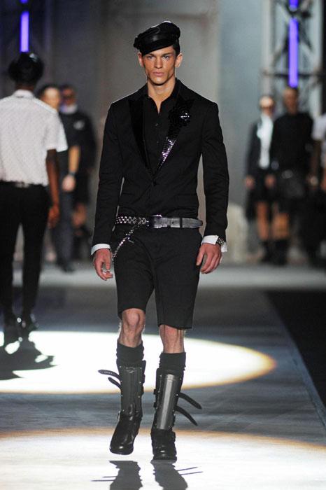 Completo nero e accessori Dsquared2 uomo