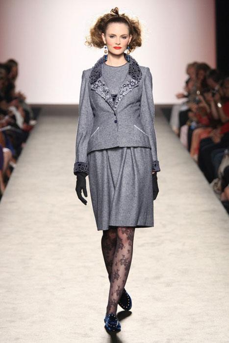 Raffaella Curiel - completo grigio