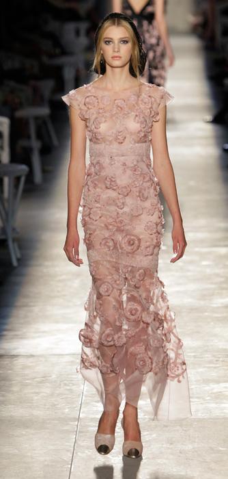 Abito trasparente Chanel Haute Couture
