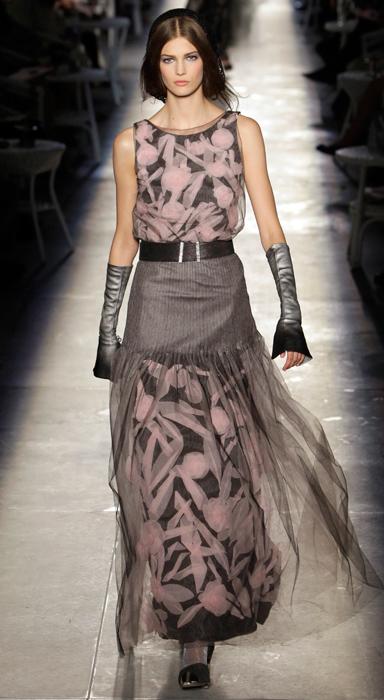 Abito stampa floreale Chanel Haute Couture