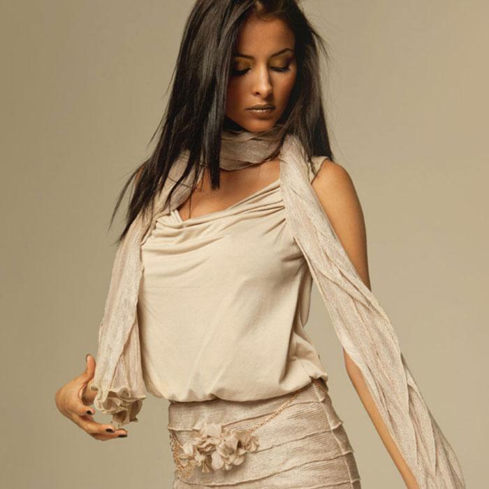 Maglia scollata beige Coconuda