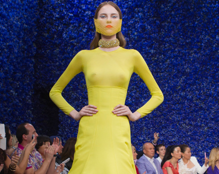 Abito giallo Dior