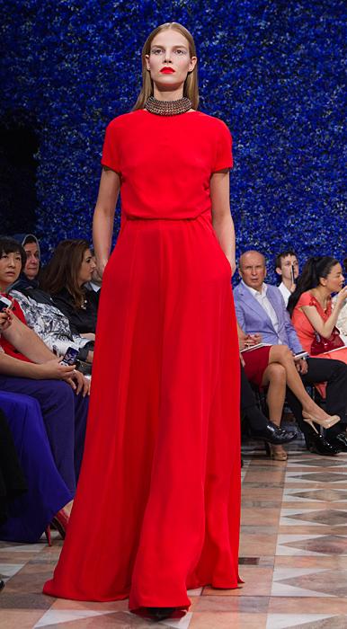 Abito rosso Dior