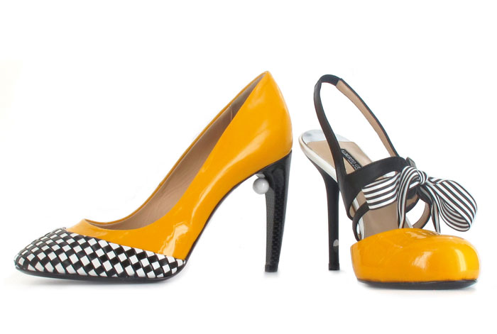 Scarpe donna in giallo Alberto Guardiani