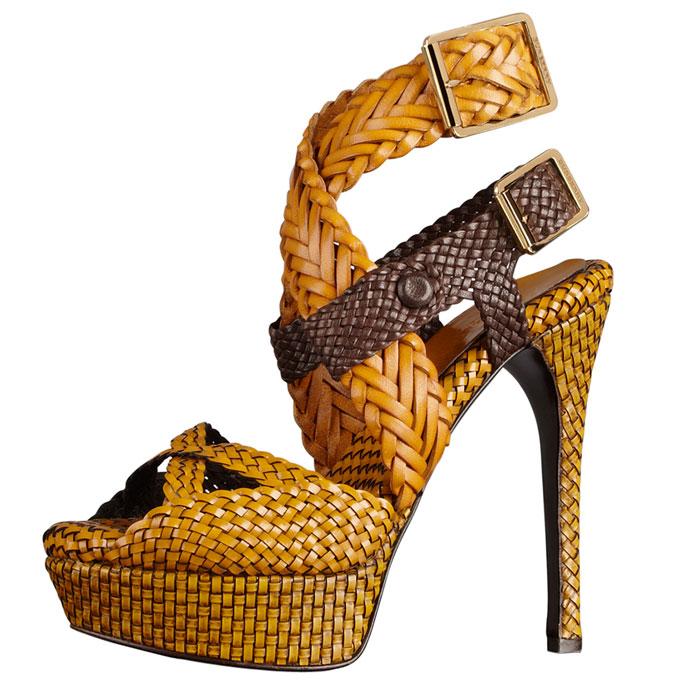 Sandalo giallo Burberry