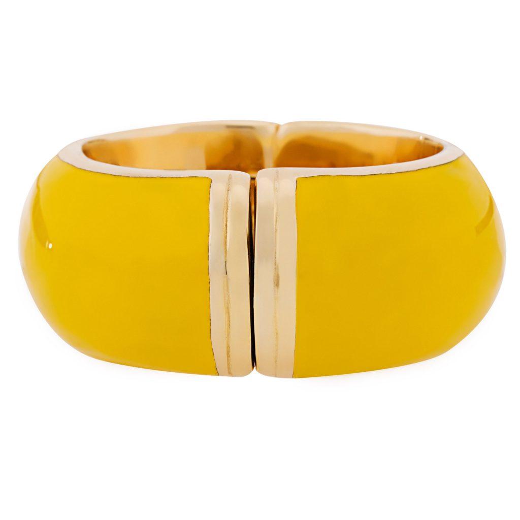 braccialetto giallo Moschino