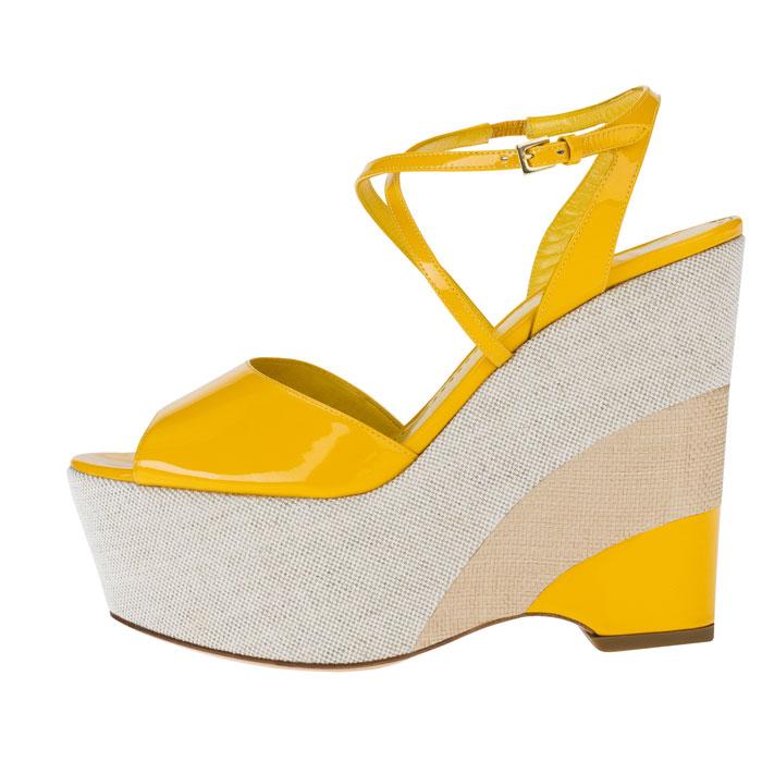 Sandalo giallo Moschino