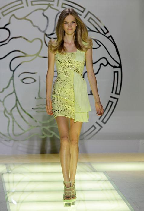 Abito giallo Versace