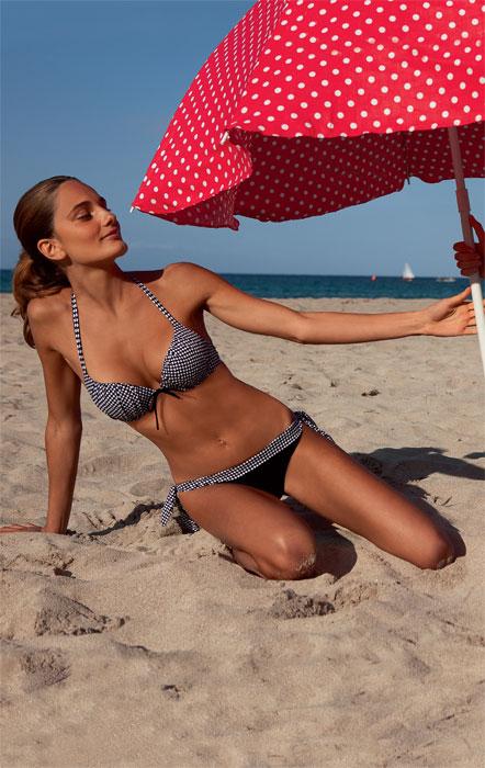 Bikini con fantasia quadratini bianchi e neri Golden Lady