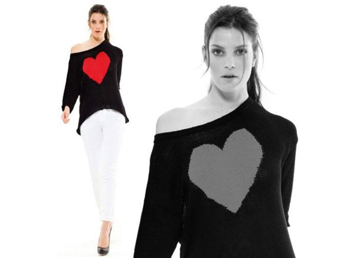 maglia con cuore e pantaloni Motivi