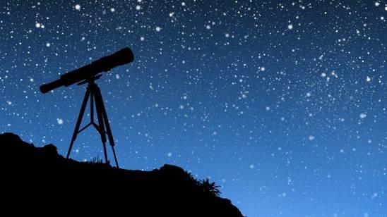 astronomia telescopio notte