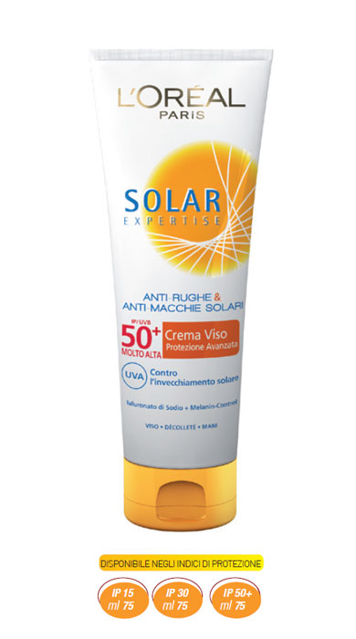 Solari L'Oreal Solar Expertise Protezione Viso