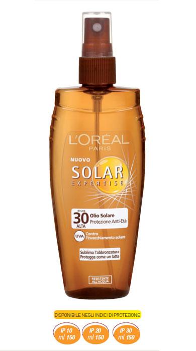 Solari L'Oreal Solar Expertise olio Solare