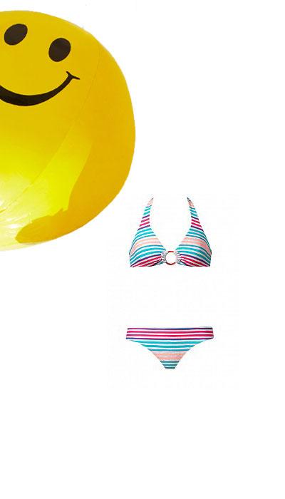 Bikini Tezenis a righe multicolore