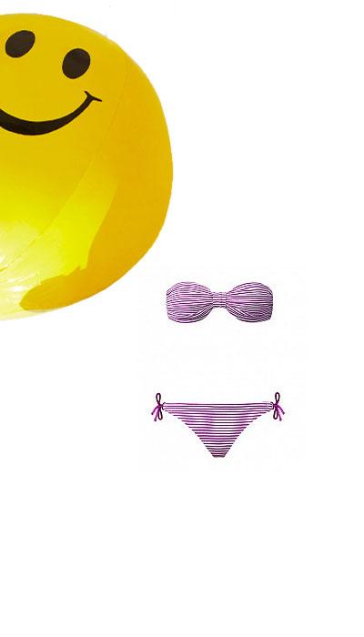 Bikini Tezenis a righe sottili