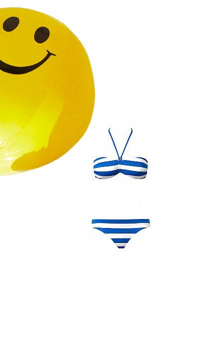 Bikini Tezenis a righe navy