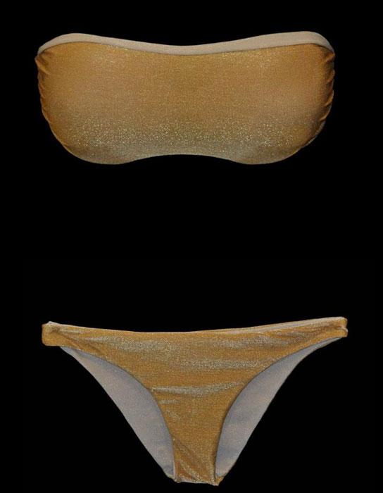 Bikini Tezuk bicolor lurex