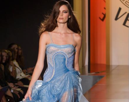 Abito azzurro Atelier Versace