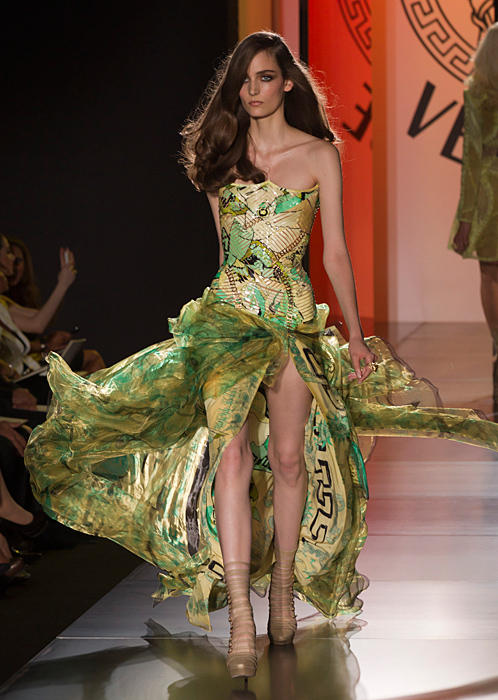 Abito stampa fantasia Atelier Versace