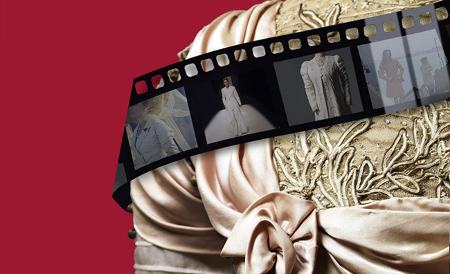 Locandina mostra Trame di moda