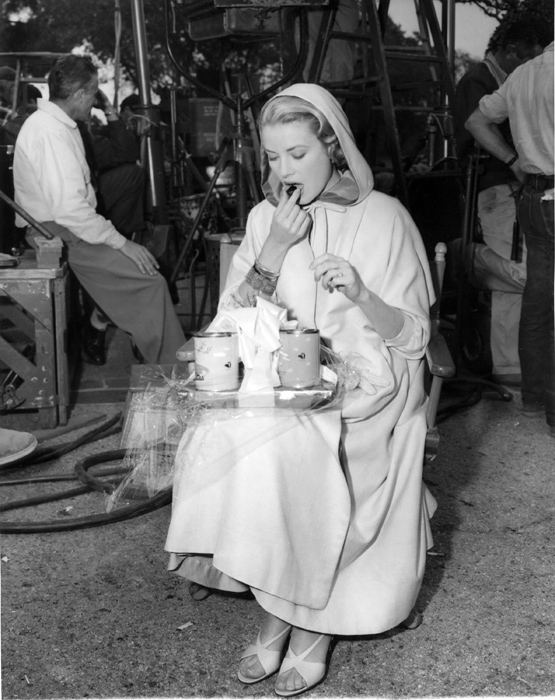 Grace Kelly pausa film - 1956
