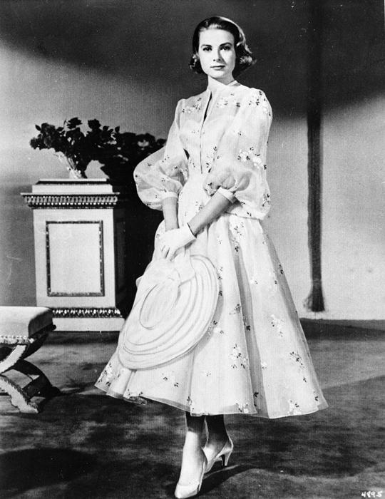 Grace Kelly con un abito di scena - 1956