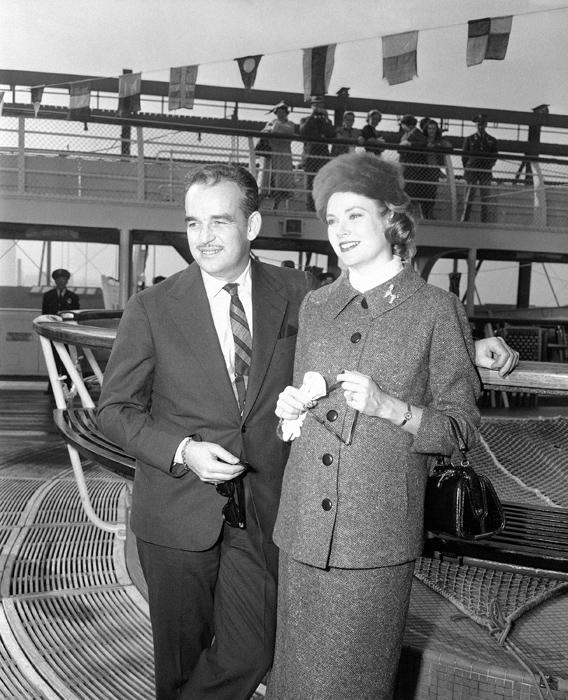 Grace Kelly e il Principe Ranieri - 1956