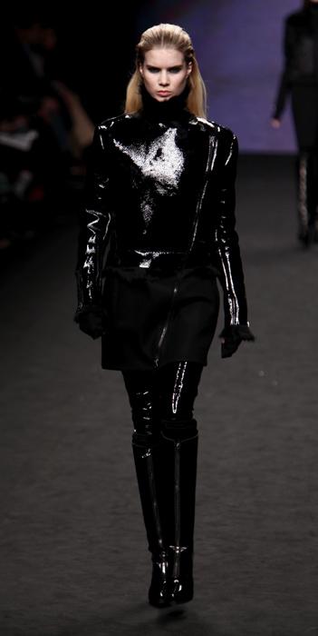 Giacca e pantaloni in vernice nera CNC Costume National