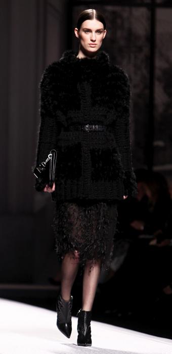 Giacca con inserti in pelliccia Alberta Ferretti