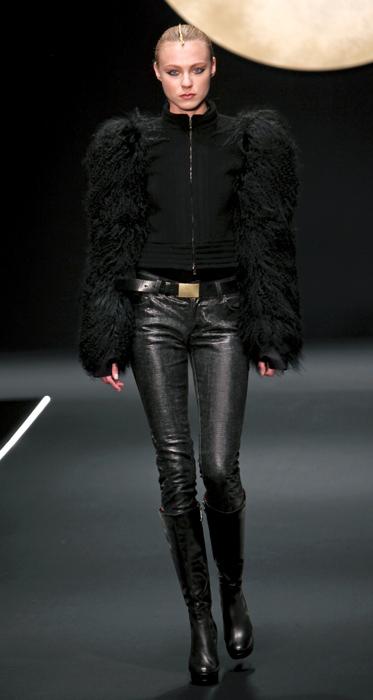 Giacca con maniche in pelliccia Krizia