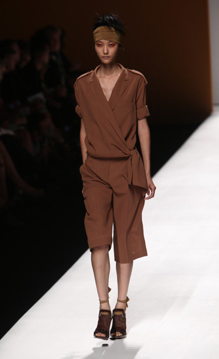 Max Mara - fascia in testa marrone