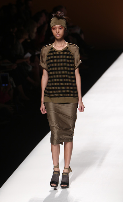 Max Mara - gonna longuette grigia