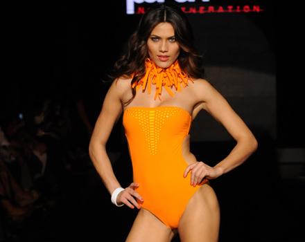 Parah - costume intero senza spalline arancione