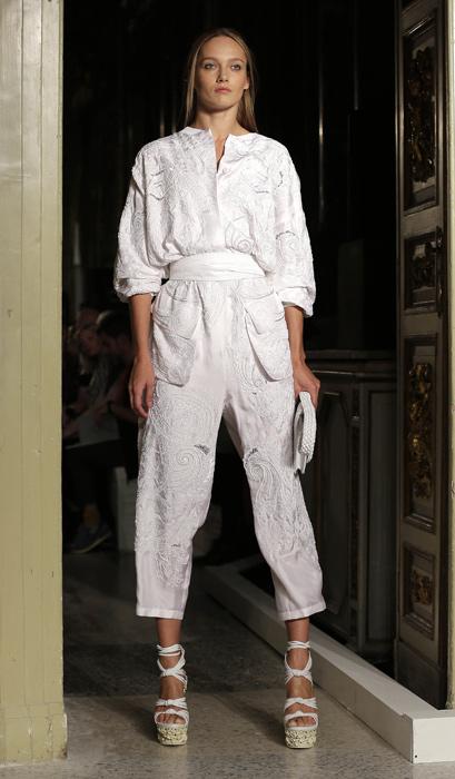 Emilio Pucci - abito bianco con pochette