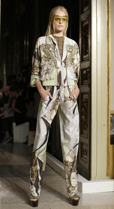 Emilio Pucci - completo argento con richiami marroni