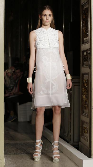 Emilio Pucci - abito bianco ricamato