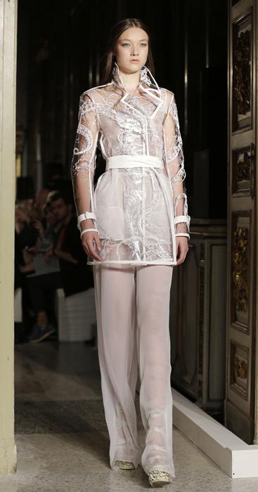 Emilio Pucci - cappotto trasparente