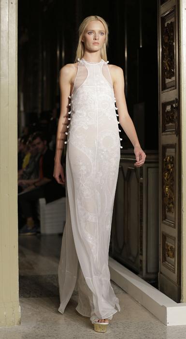 Emilio Pucci - abito lungo bianco con ricami