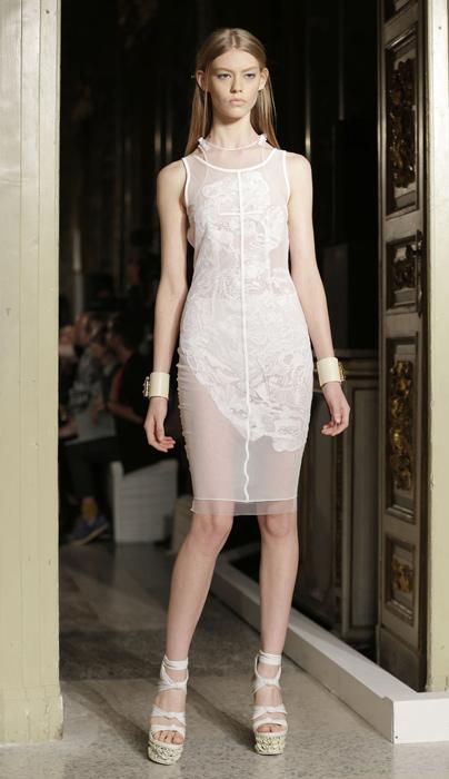 Emilio Pucci - abito trasparente con zeppa