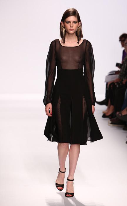 Vestito nero trasparente