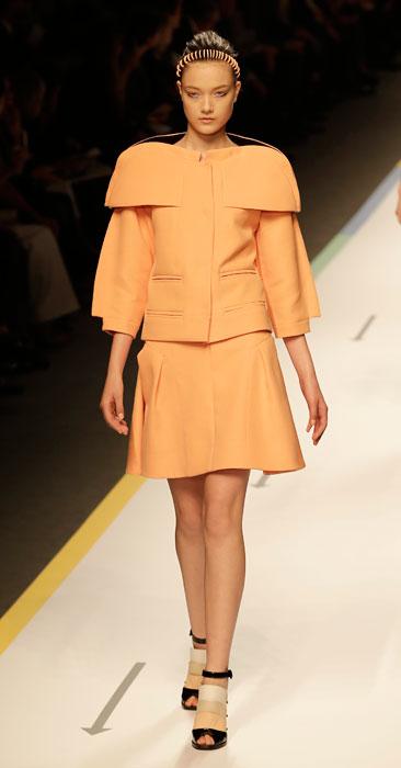 Fendi - cappotto color cipria