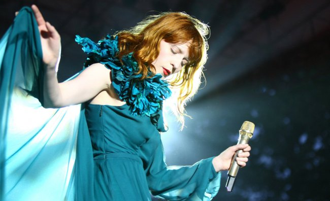 Florence Welch in scena all'Art + Film Gala 2012