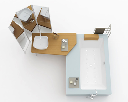 Makro - piano lavabo