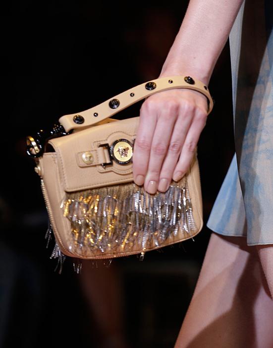 Borsa con frange Versace