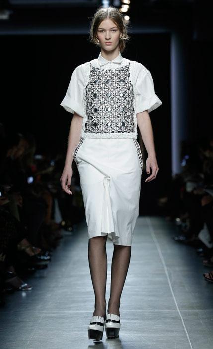 Bottega Veneta - maglia bianco con stampa nera