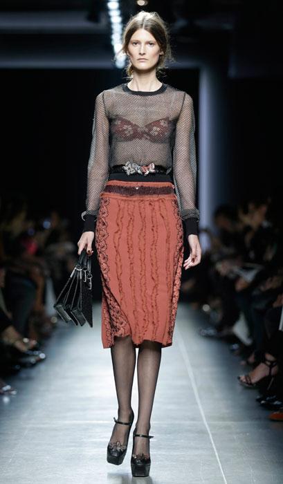 Bottega Veneta - maglia nera trasparente