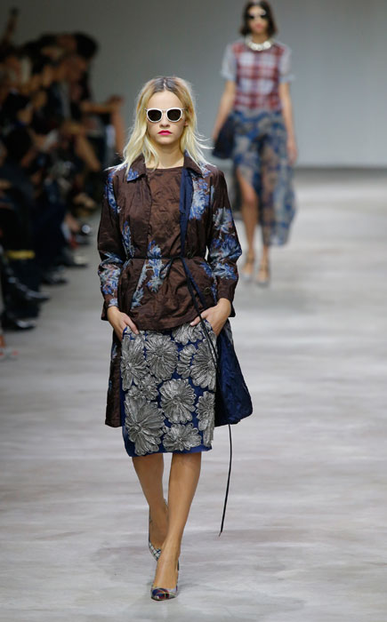 Dries Van Noten - Giacca a gonna con stampe floreali